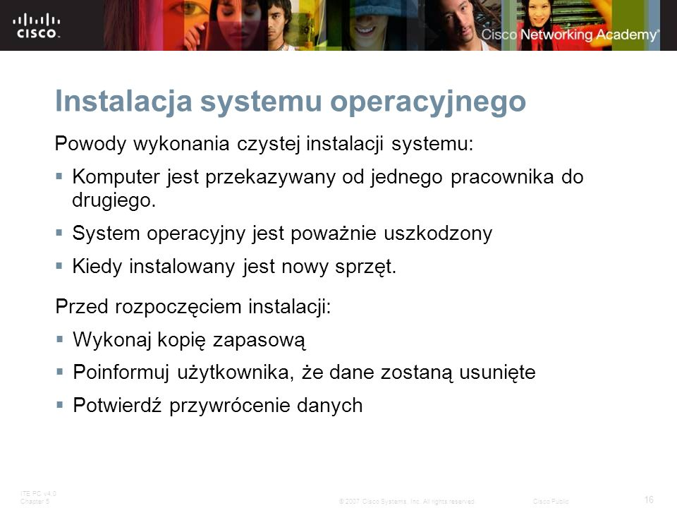 Instalacja systemu operacyjnego
