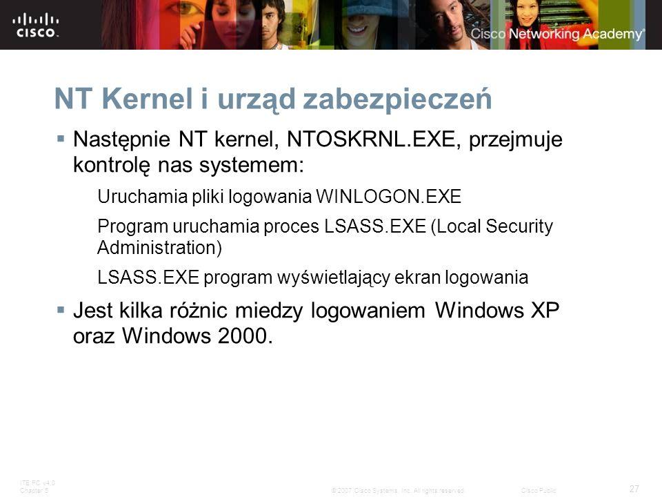 NT Kernel i urząd zabezpieczeń