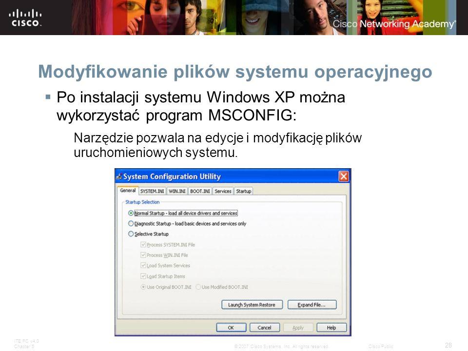 Modyfikowanie plików systemu operacyjnego