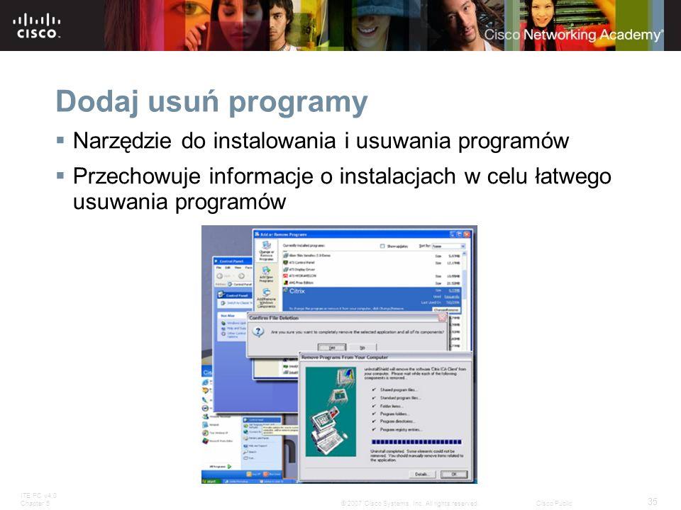 Dodaj usuń programy Narzędzie do instalowania i usuwania programów