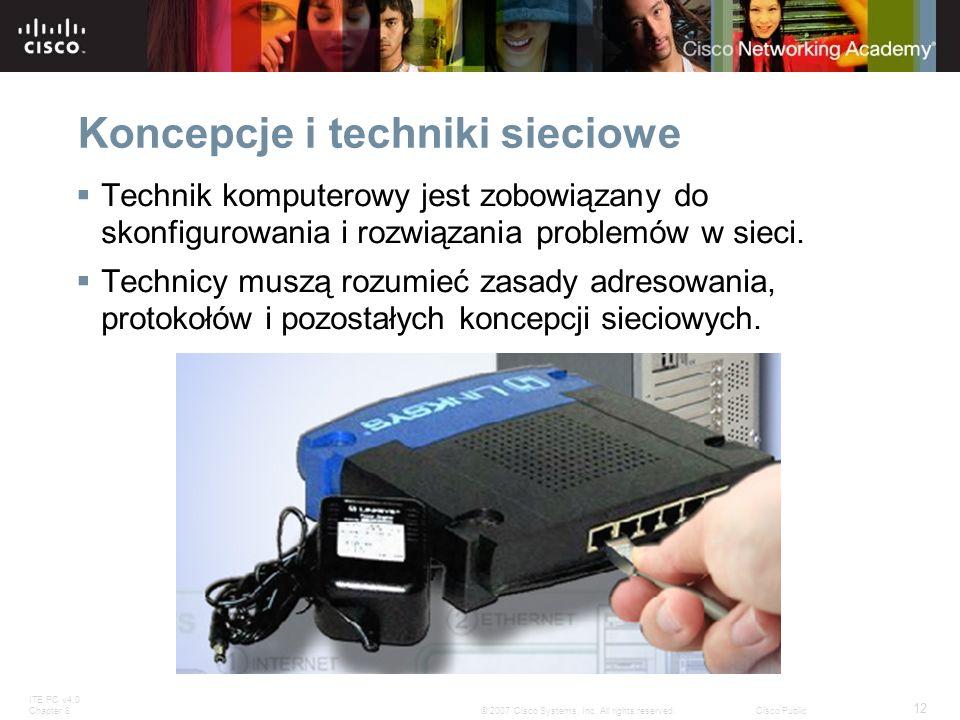 Koncepcje i techniki sieciowe