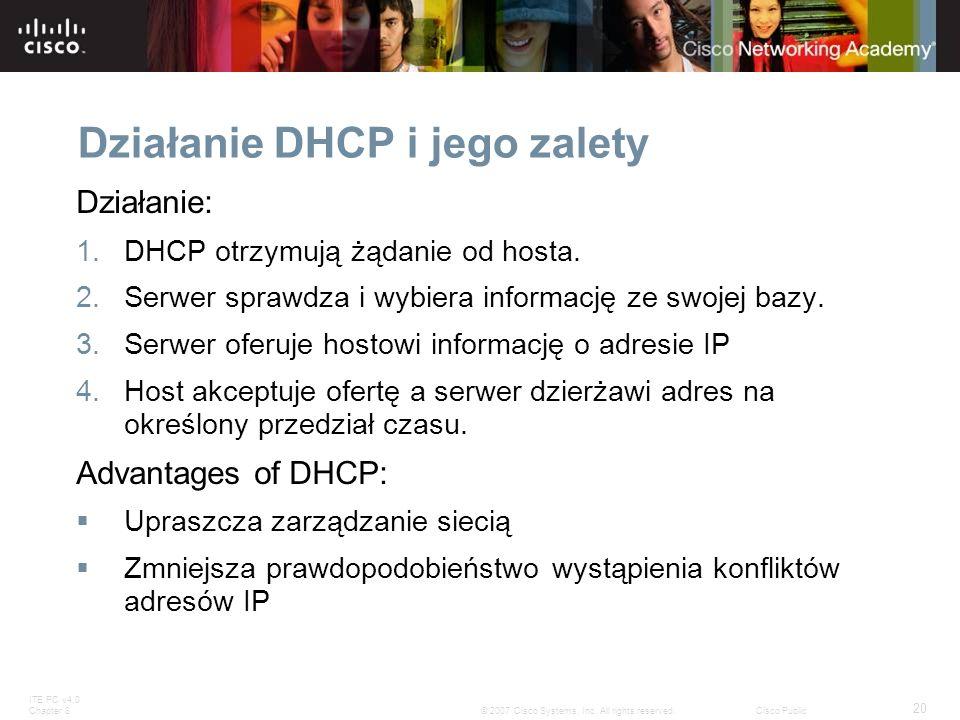 Działanie DHCP i jego zalety