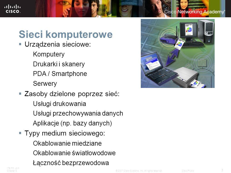 Sieci komputerowe Urządzenia sieciowe: Zasoby dzielone poprzez sieć: