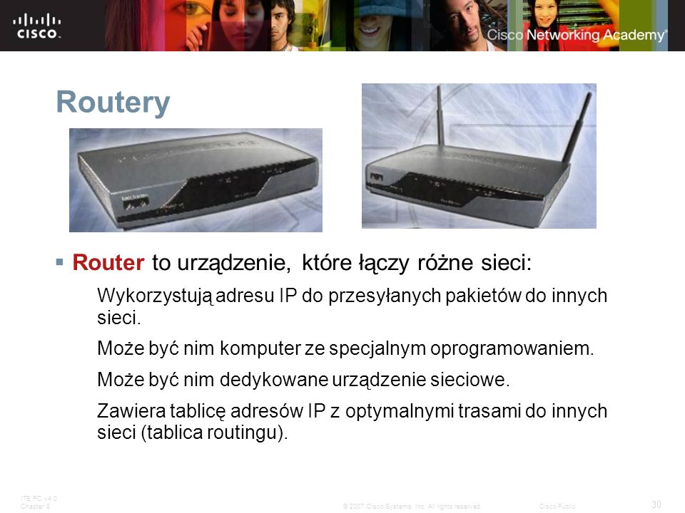 Routery Router to urządzenie, które łączy różne sieci: