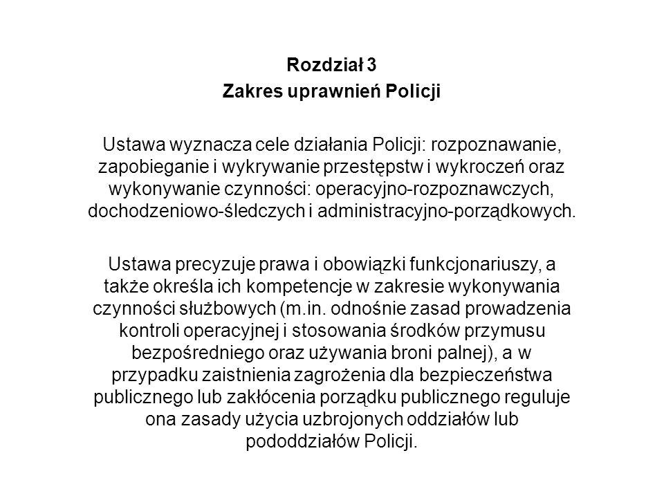 Zakres uprawnień Policji