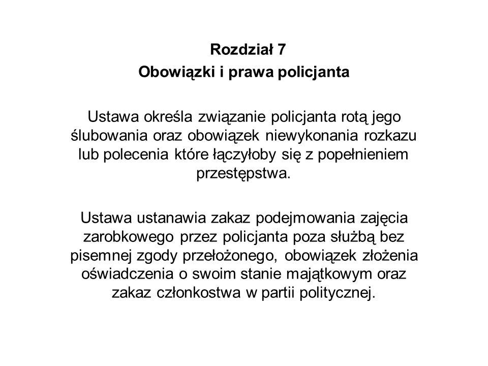 Obowiązki i prawa policjanta