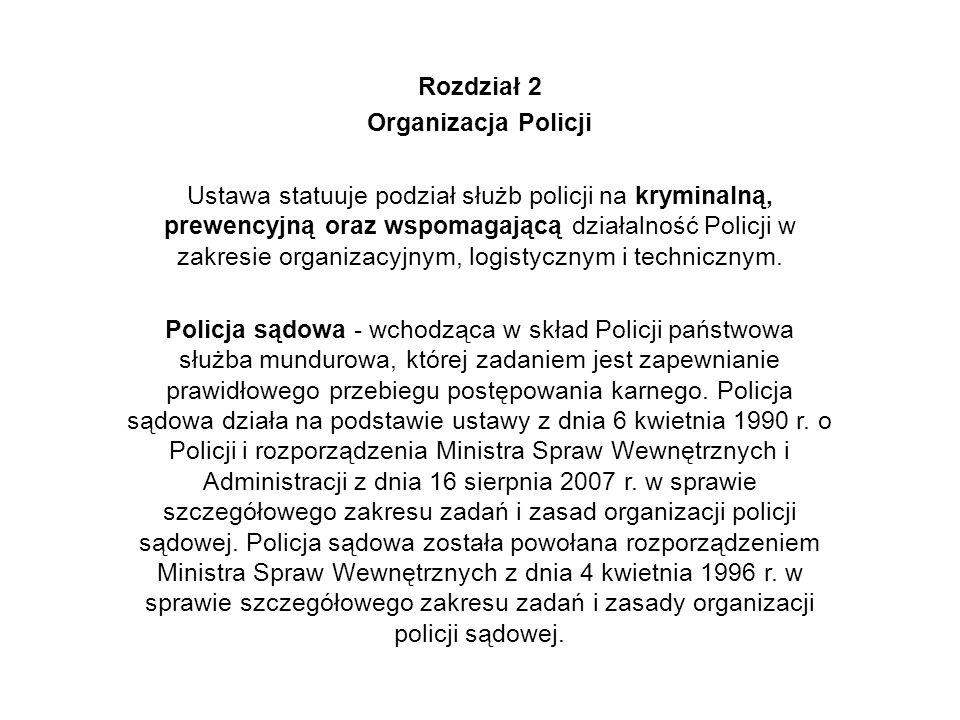 Rozdział 2 Organizacja Policji.