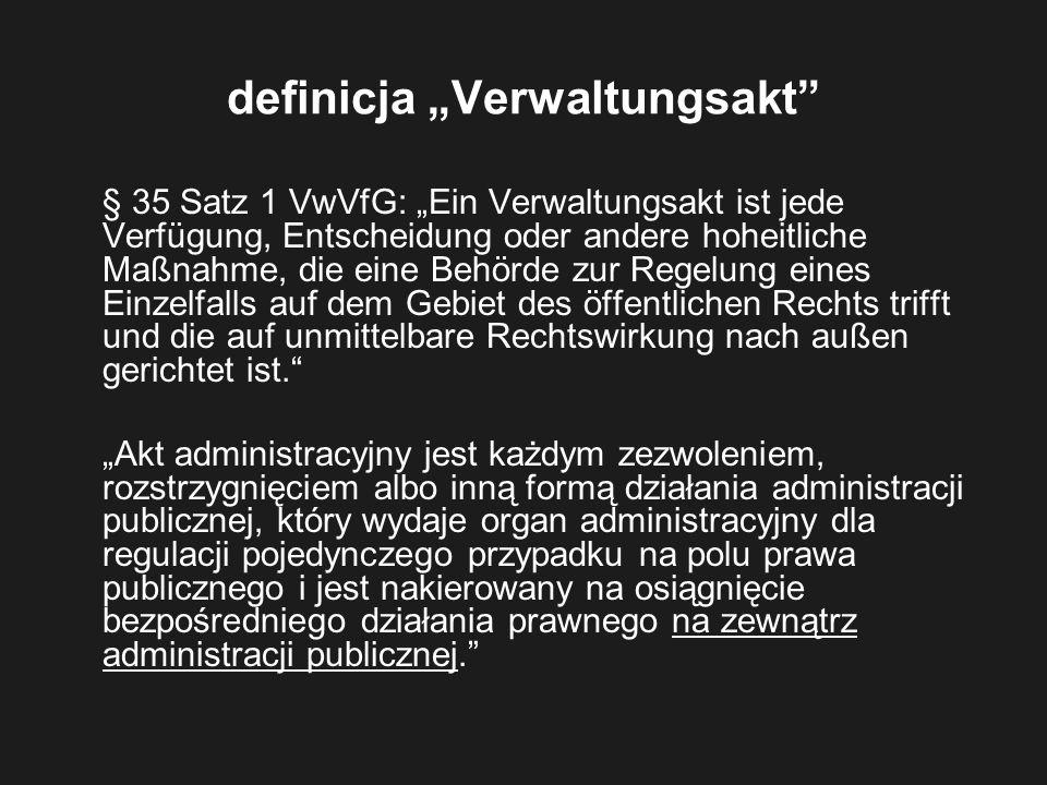 """definicja """"Verwaltungsakt"""
