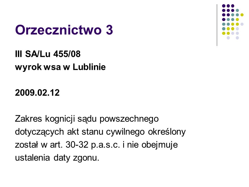 Orzecznictwo 3 III SA/Lu 455/08 wyrok wsa w Lublinie 2009.02.12