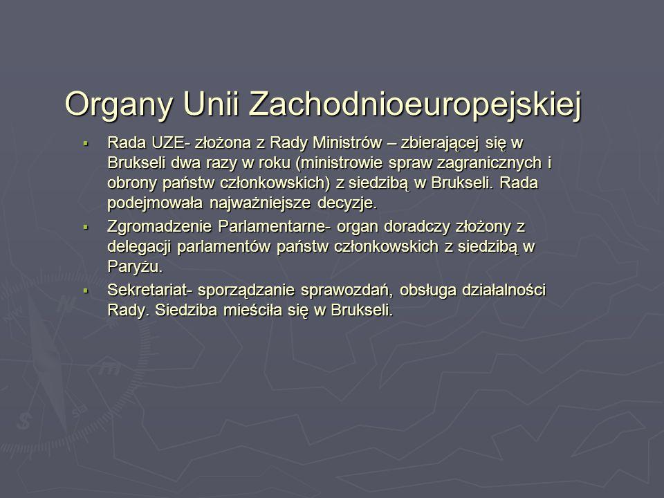 Organy Unii Zachodnioeuropejskiej