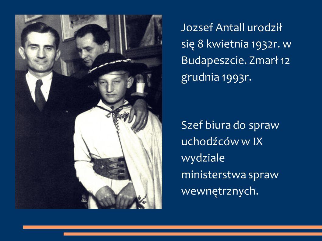 Jozsef Antall urodził się 8 kwietnia 1932r. w Budapeszcie