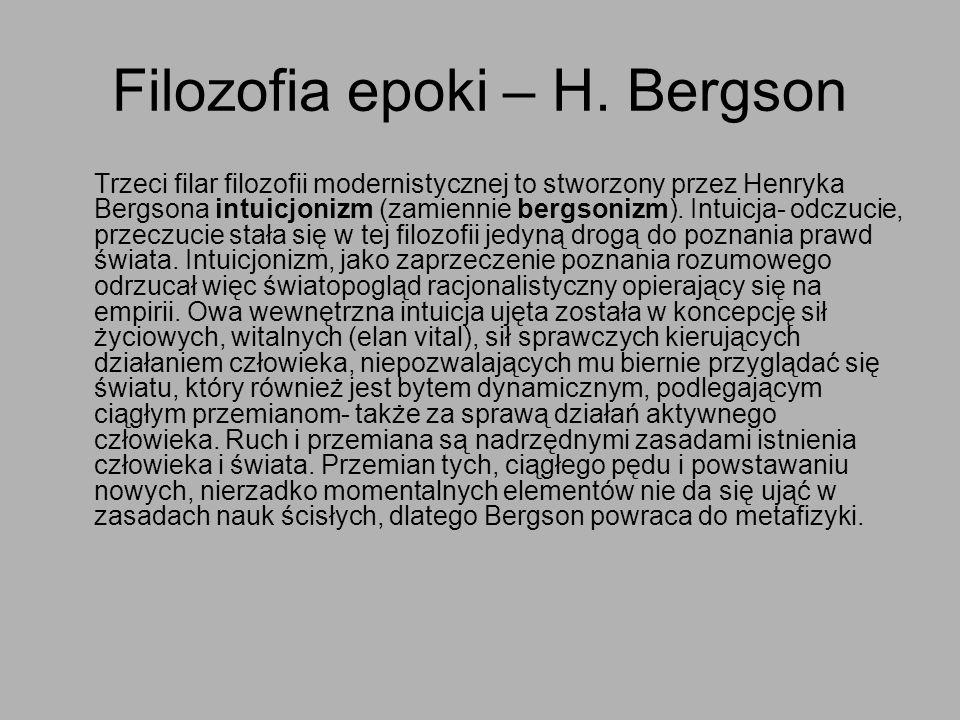 Filozofia epoki – H. Bergson