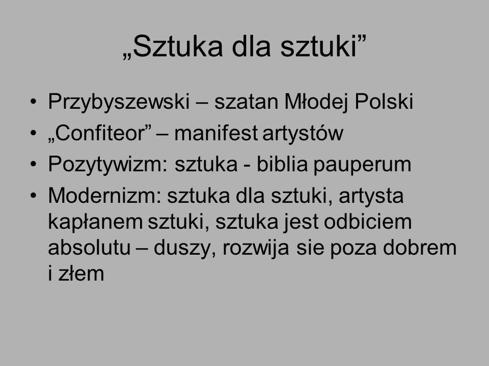 """""""Sztuka dla sztuki Przybyszewski – szatan Młodej Polski"""