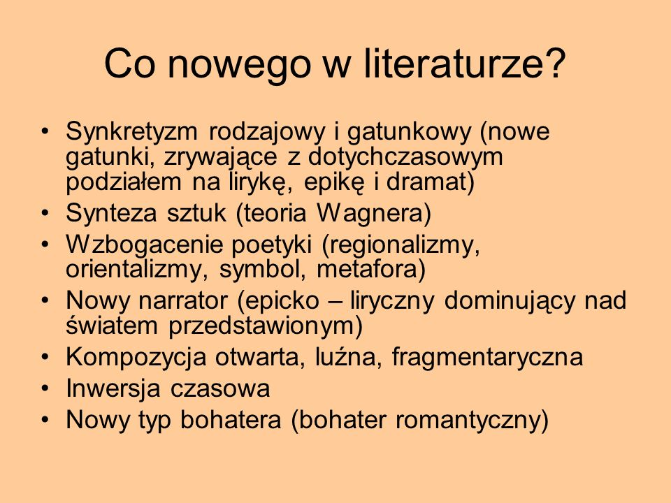 Co nowego w literaturze