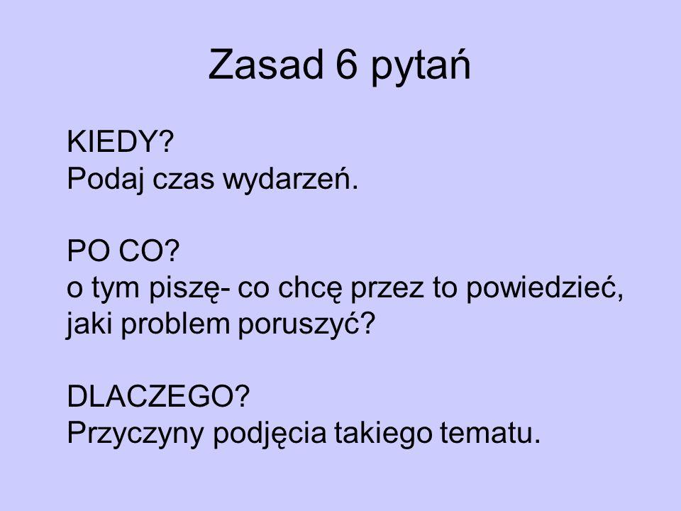 Zasad 6 pytań