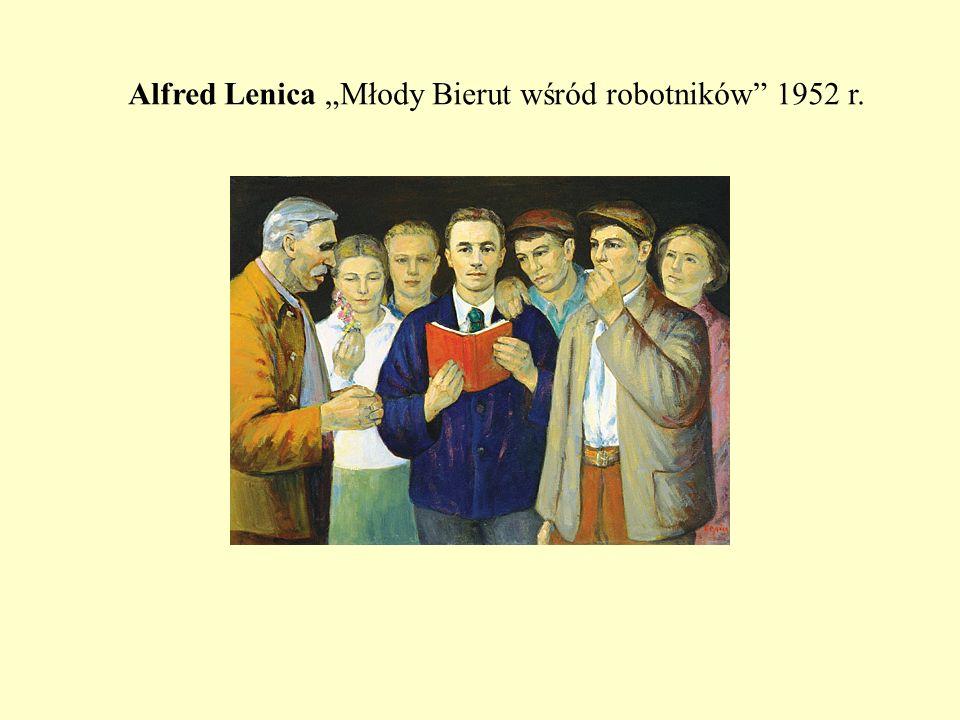 """Alfred Lenica """"Młody Bierut wśród robotników 1952 r."""
