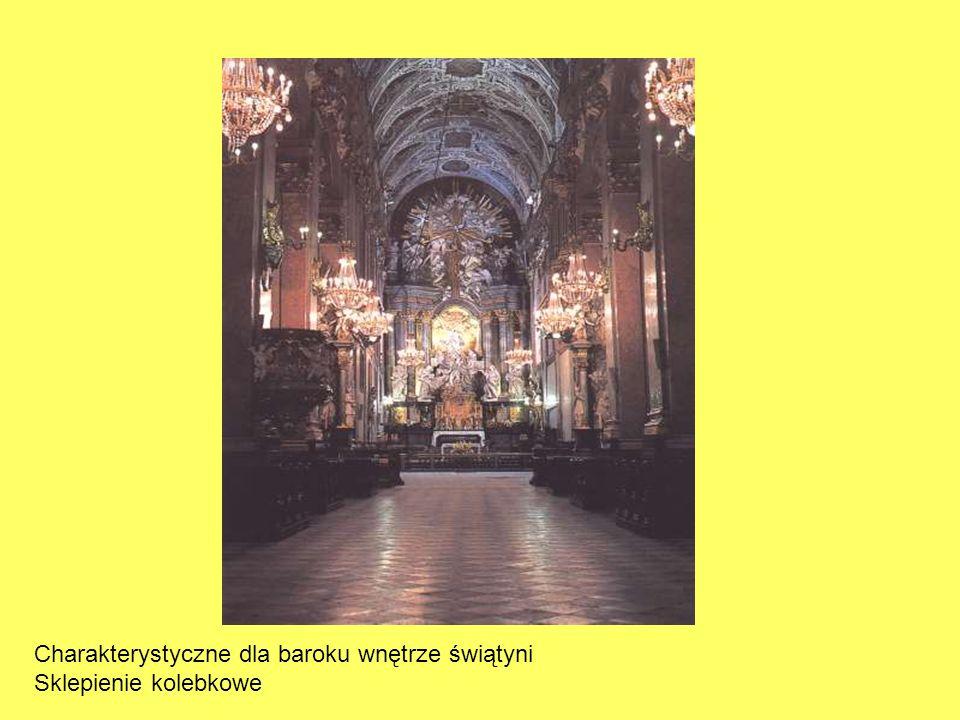 Charakterystyczne dla baroku wnętrze świątyni