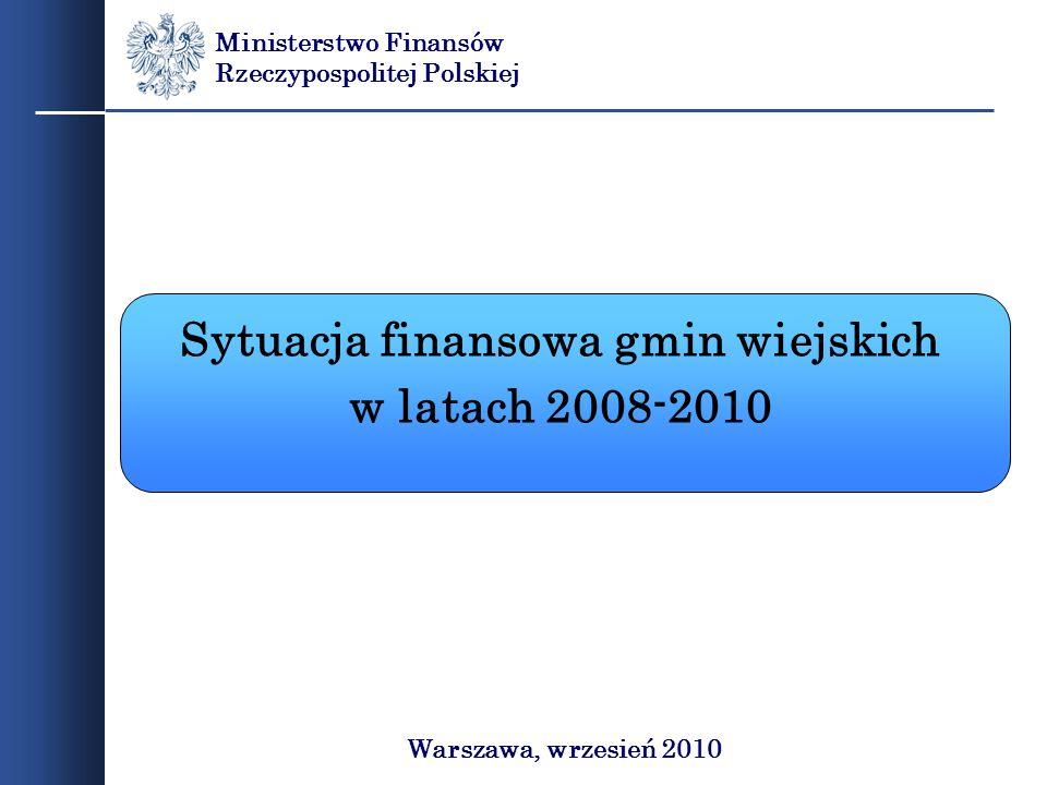 Sytuacja finansowa gmin wiejskich
