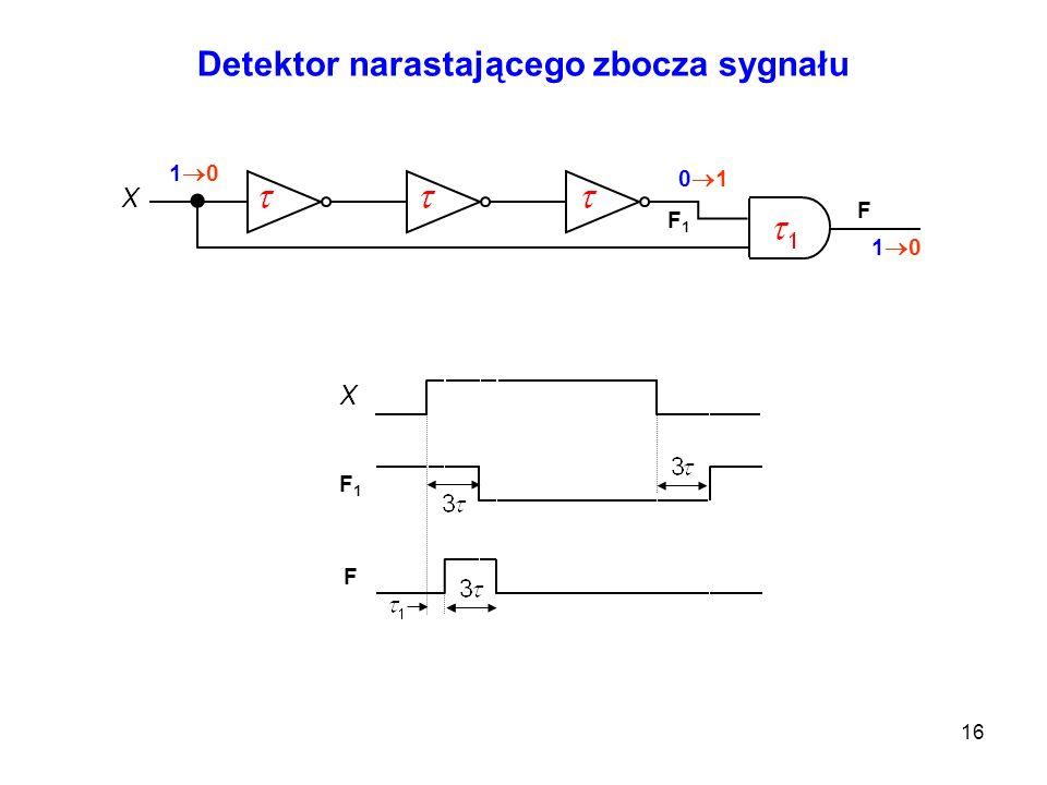 Detektor narastającego zbocza sygnału