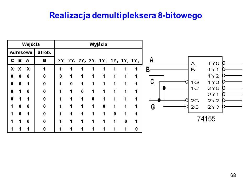 Realizacja demultipleksera 8-bitowego