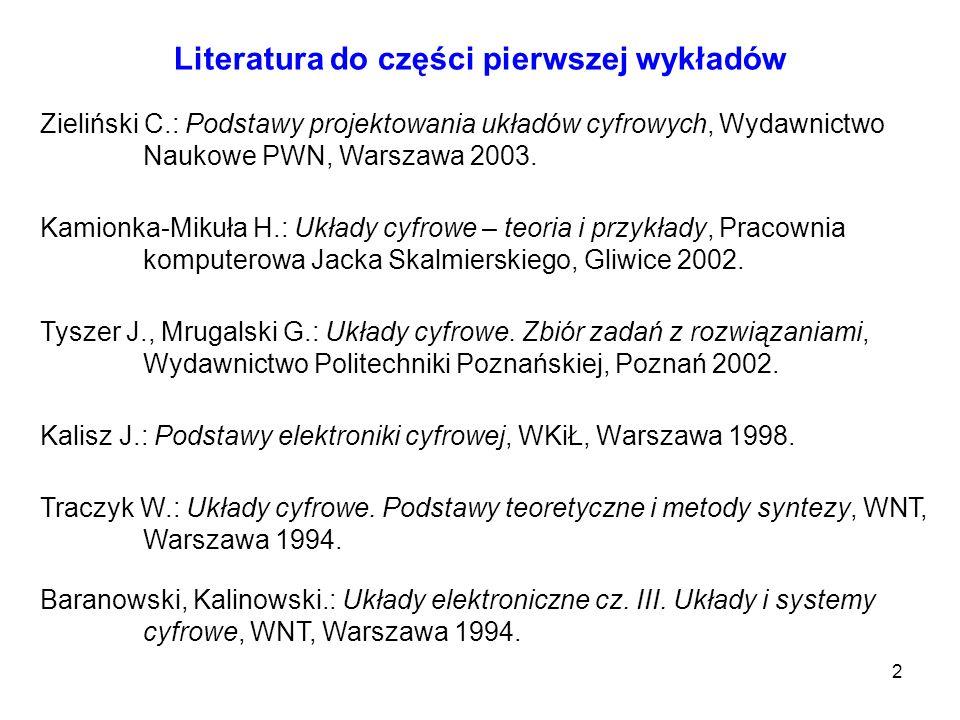 Literatura do części pierwszej wykładów