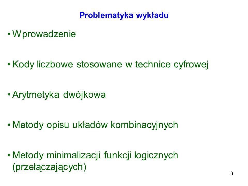 Kody liczbowe stosowane w technice cyfrowej