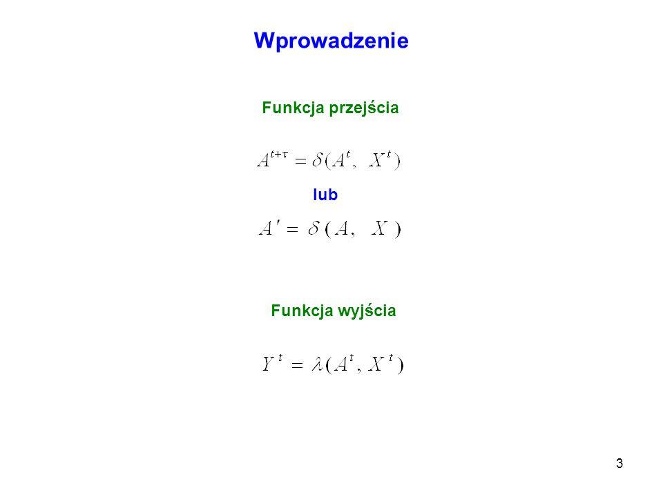Wprowadzenie Funkcja przejścia lub Funkcja wyjścia