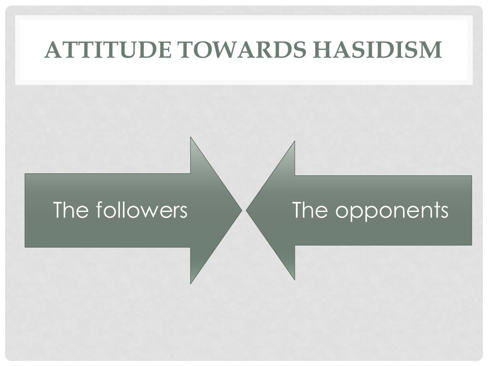 Attitude towards hasidism