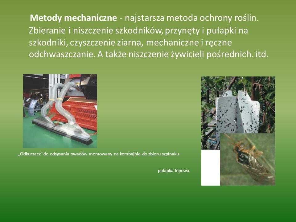 Metody mechaniczne - najstarsza metoda ochrony roślin