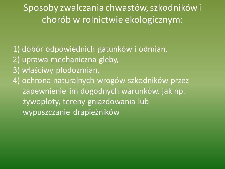 Sposoby zwalczania chwastów, szkodników i chorób w rolnictwie ekologicznym: