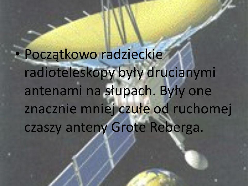 Początkowo radzieckie radioteleskopy były drucianymi antenami na słupach.