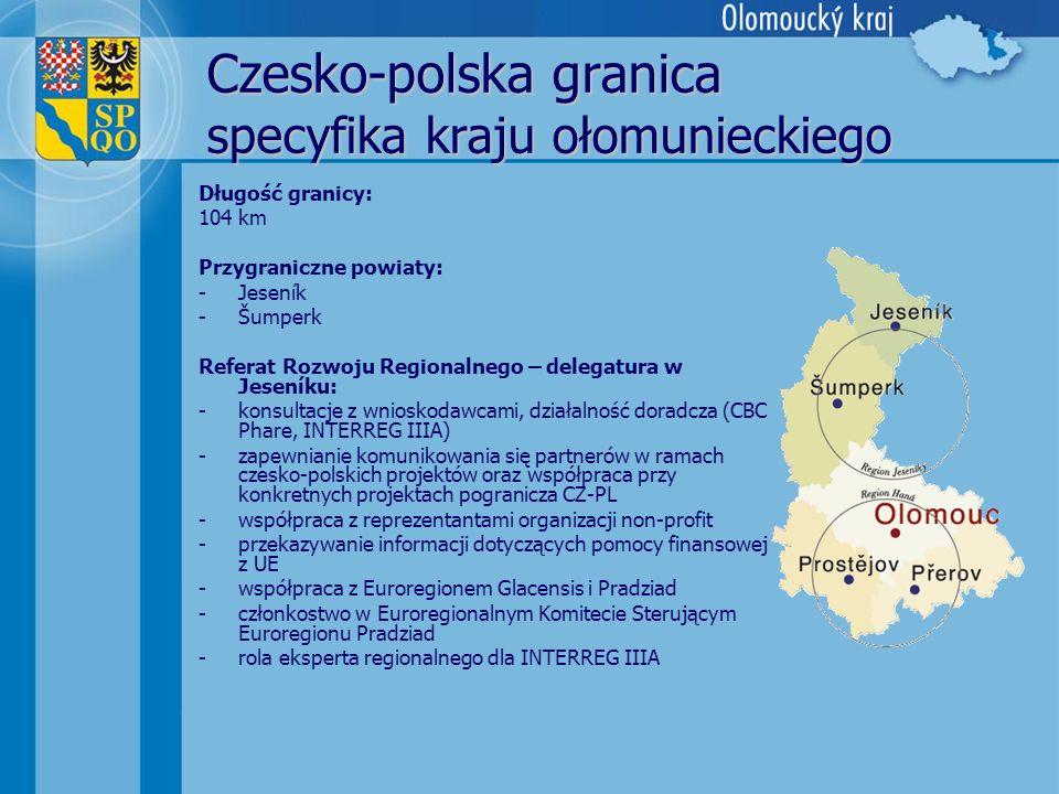 Czesko-polska granica specyfika kraju ołomunieckiego