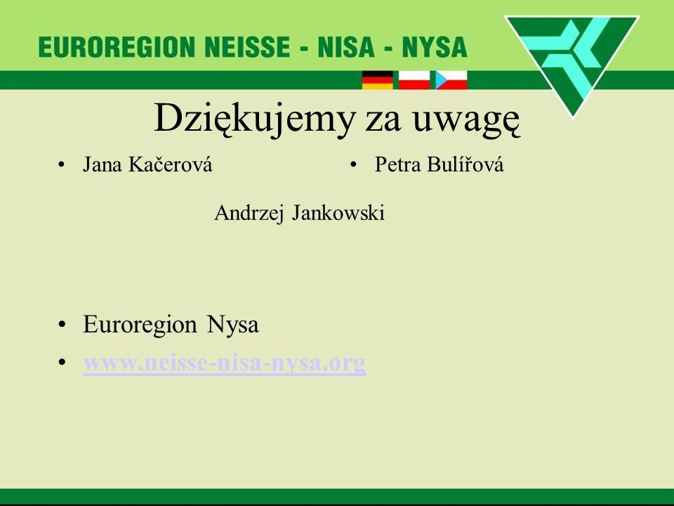 Dziękujemy za uwagę Euroregion Nysa www.neisse-nisa-nysa.org