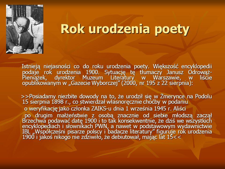 Rok urodzenia poety