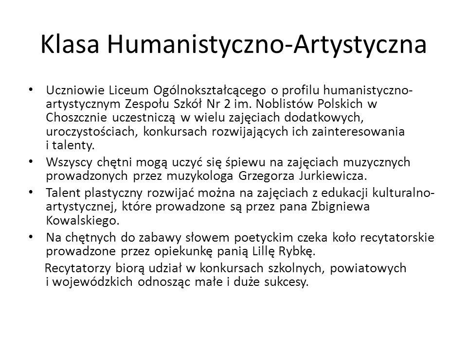 Klasa Humanistyczno-Artystyczna