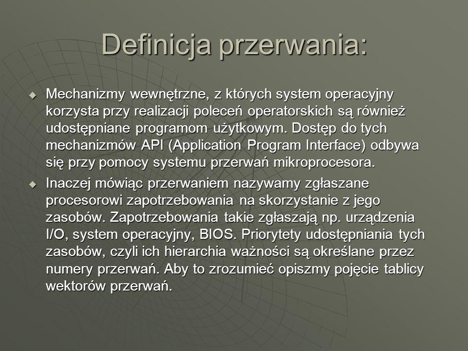 Definicja przerwania: