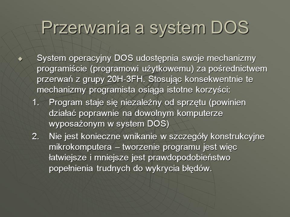 Przerwania a system DOS
