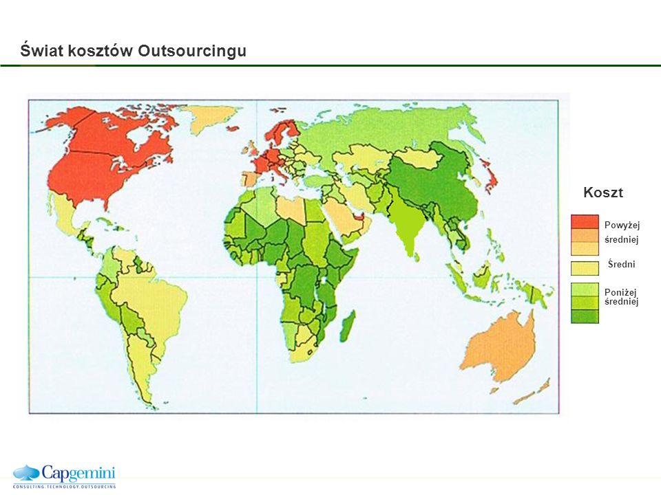 Świat kosztów Outsourcingu