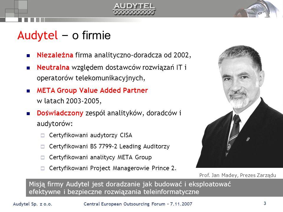 Audytel – o firmie Niezależna firma analityczno-doradcza od 2002,