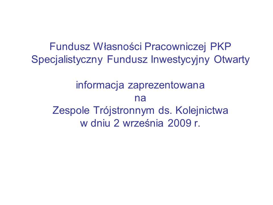 Fundusz Własności Pracowniczej PKP Specjalistyczny Fundusz Inwestycyjny Otwarty informacja zaprezentowana na Zespole Trójstronnym ds.