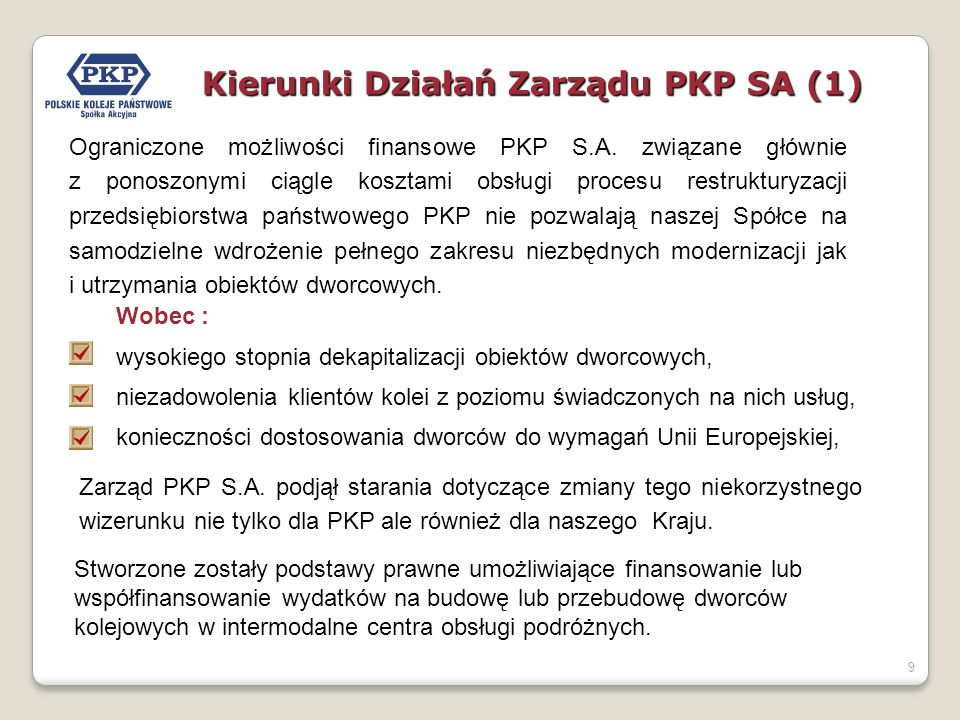 Kierunki Działań Zarządu PKP SA (1)