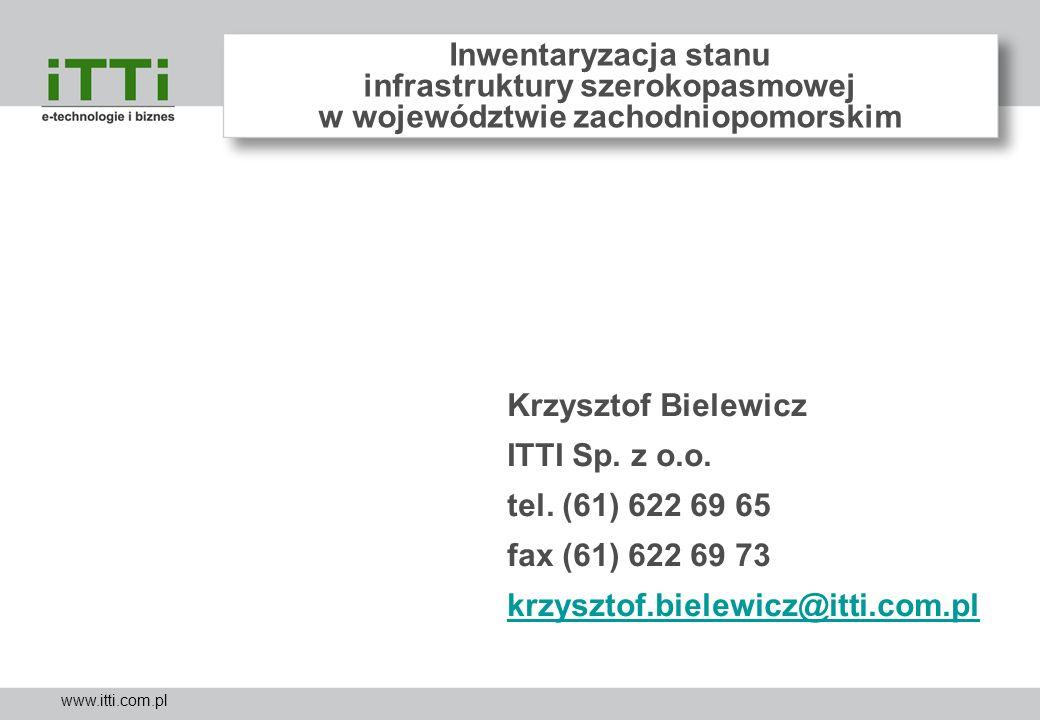 Inwentaryzacja stanu infrastruktury szerokopasmowej w województwie zachodniopomorskim