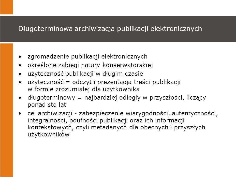 Długoterminowa archiwizacja publikacji elektronicznych
