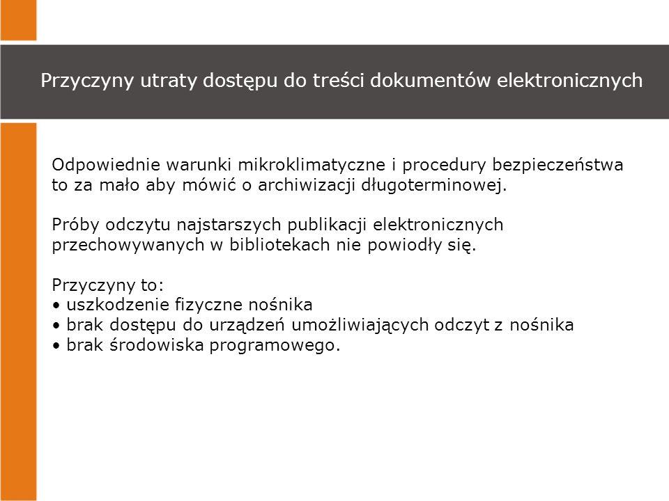Przyczyny utraty dostępu do treści dokumentów elektronicznych
