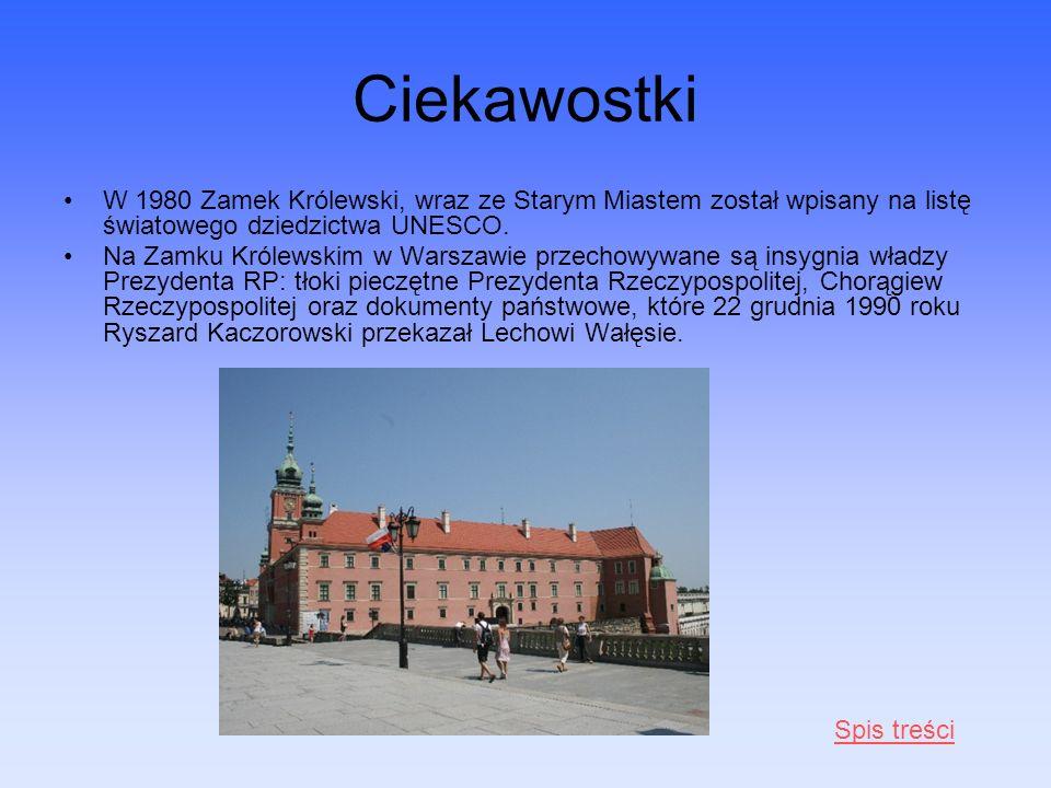 Ciekawostki W 1980 Zamek Królewski, wraz ze Starym Miastem został wpisany na listę światowego dziedzictwa UNESCO.