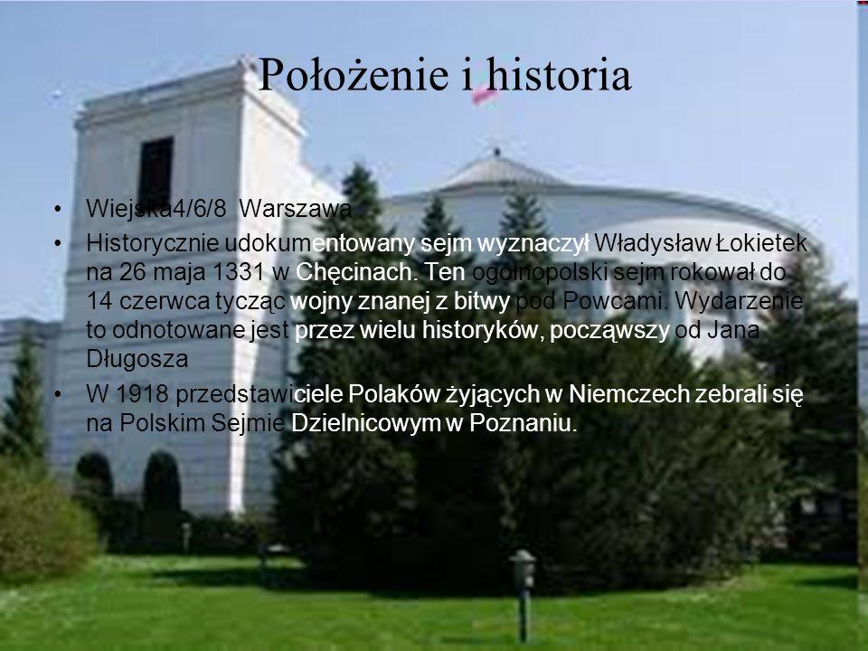 Położenie i historia Wiejska4/6/8 Warszawa