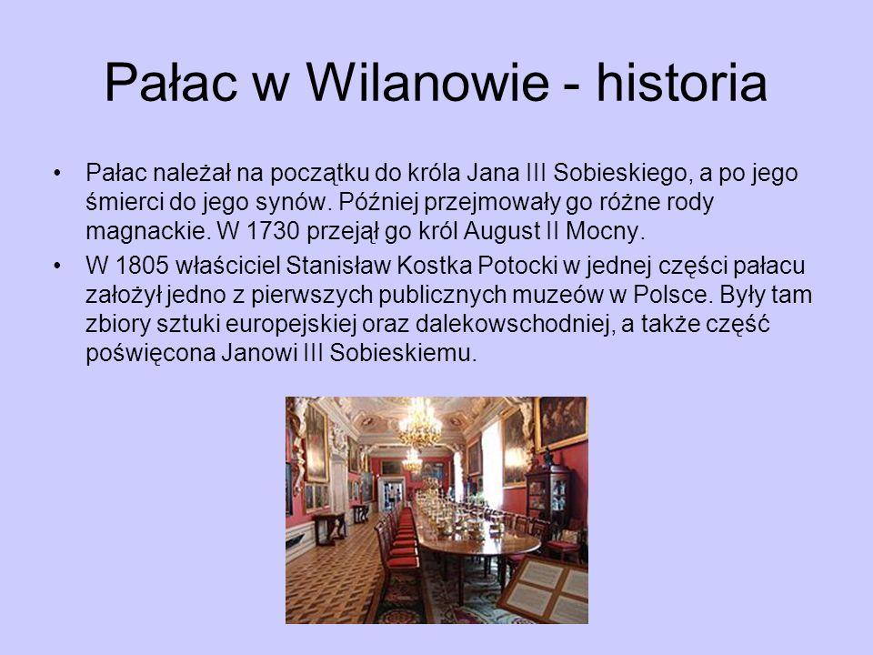 Pałac w Wilanowie - historia