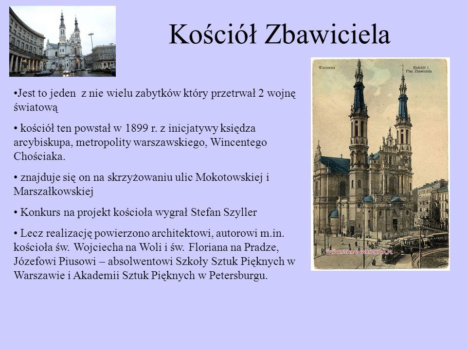 Kościół Zbawiciela Jest to jeden z nie wielu zabytków który przetrwał 2 wojnę światową.