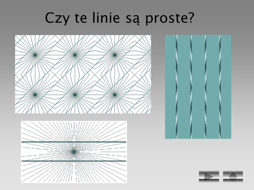 Czy te linie są proste
