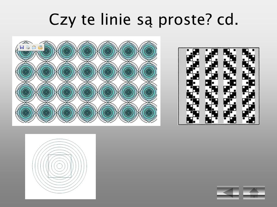 Czy te linie są proste cd.